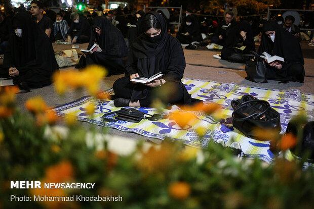 احیای شب بیست و یکم ماه مبارک رمضان در مسجد امام صادق (ع)