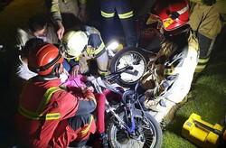 حادثه تلخ برای دختر خردسال دوچرخه سوار