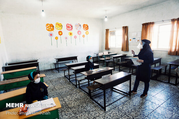 بازگشایی مدارس در همدان