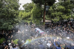 تشییع پیکر «شهید بی سر» اصغر پاشاپور در تهران
