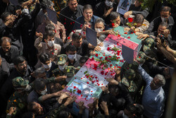 تہران میں شہید اصغر پاشاپور کی تشییع جنازہ