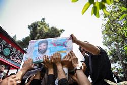 خاکسپاری پیکر «شهید اصغر پاشاپور» در گلزار شهدای تهران
