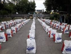 توزیع ۱۵۰ بسته مواد غذایی بین نیازمندان بجنوردی
