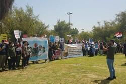 Bağdat'ta protestocular MBC kanalı ofisini ele geçirdi