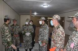 العميد صباحي فرد يتفقد مواقع الدفاعات الجوية في جنوب شرق البلاد