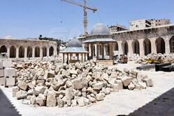 آغاز عملیات ترمیم مسجد اموی حلب+تصاویر
