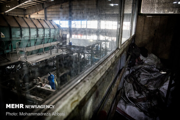 سایت تفکیک زباله و دفن زباله های بیمارستانی و کرونایی