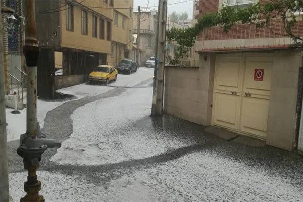 بارش تگرگ در دماوند