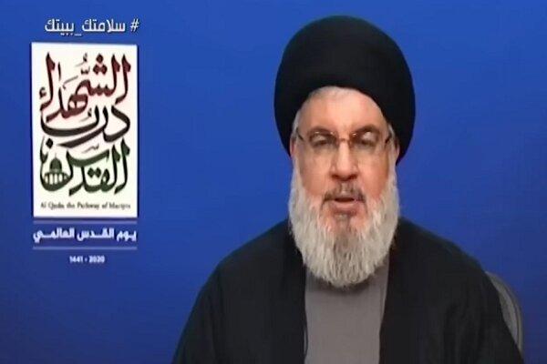 السيد نصرالله: نفتقد في يوم القدس القائد المجاهد الكبير الحاج قاسم سليماني