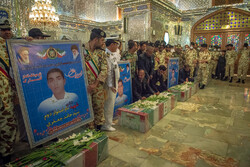 Funeral processions of 4 martyrs of Iranian Navy in Shiraz