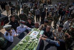 شیراز میں کنارک کشتی کے حادثے کے 4 شہیدوں کی تشییع جنازہ