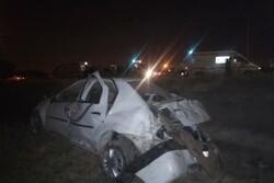 واژگونی یک خودرو در ری/ ۶ نفر مصدوم شدند