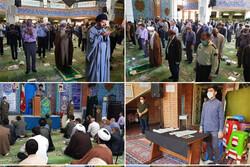نماز جمعه در پردیس با رعایت پروتکل های بهداشتی برگزار شد