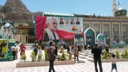 حضور ابوعزرائیل رزمنده حشد الشعبی در گلزار شهدای کرمان