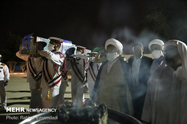 مراسم وداع جثمان فخرالدین فلك نازی في بندر عباس (جنوب ايران)