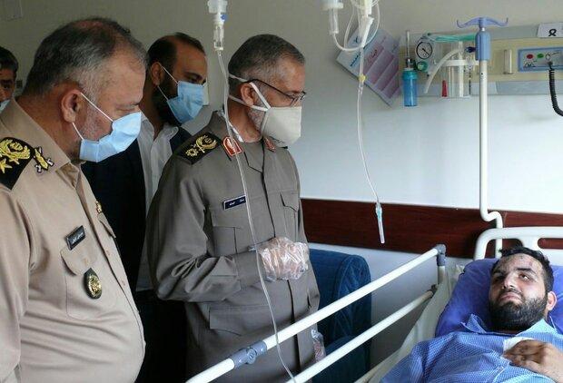 سردار شیرازی از مجروحین حادثه کنارک عیادت کرد