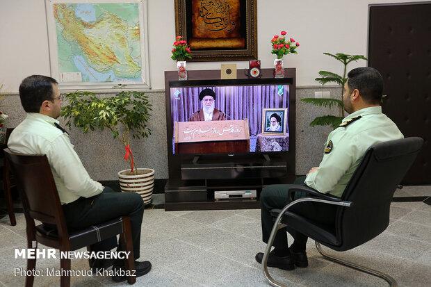 سخنرانی رهبر انقلاب در جمع امت اسلامی در روز جهانی قدس
