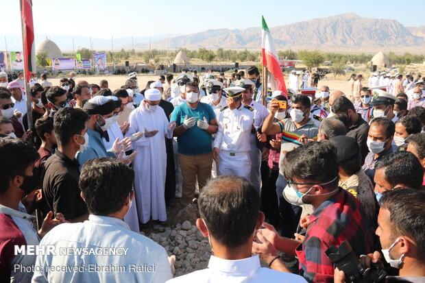مراسم خاکسپاری شهید فخرالدین فلک نازی در روستای دهتل