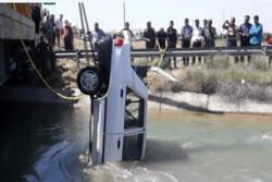 سقوط پراید به کانال آب در محمدیه حادثه آفرید