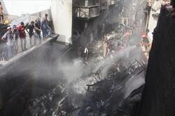 Pakistan'daki uçak kazasından görüntüler