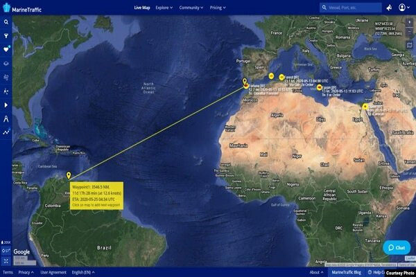 Iranian fuel tankers  approach Caribbean: report