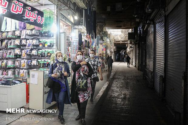Social distancing in Tehran Bazaar