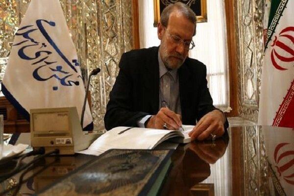 لاريجاني يؤكد على دور البرلمانات في مواجهة تحديات العالم الاسلامي