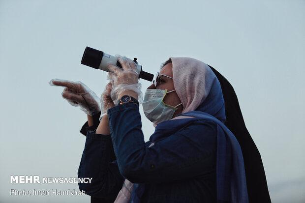 Sighting Shawwal crescent moon in Hamedan