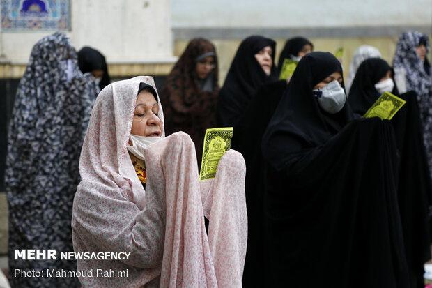 اقامه نماز عید سعید فطر در مسجد فیروزآبادی شهر ری