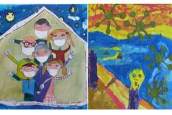 نقاشیهای برتر کودکان زیر ۱۰ سال با موضوع «قرنطینه»