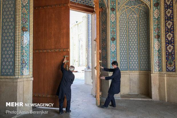 بازگشایی دربهای حرم مطهر حضرت شاهچراغ(ع) به روی زائران