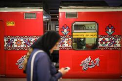 كورونا ومترو الأنفاق بمدينة طهران / صور