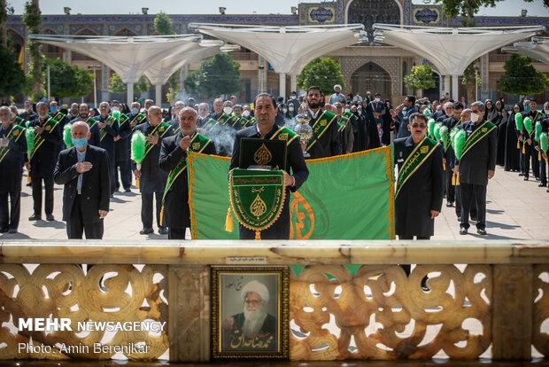 آیین شکرانه بازگشایی حرم حضرت شاهچراغ(ع) شیراز