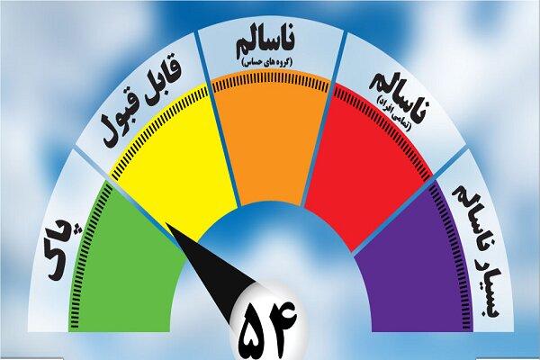 وضعیت کیفیت هوای شهر مشهد قابل قبول است