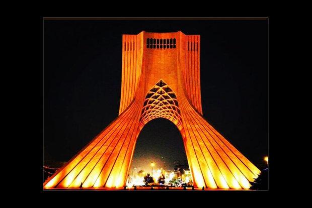 Tehran's Azadi Tower goes orange to mark World MS Day