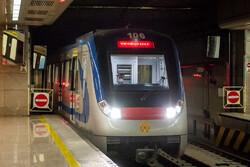 بدء تشغيل أسطول قطارات المترو في مدينة شيراز وسط إيران