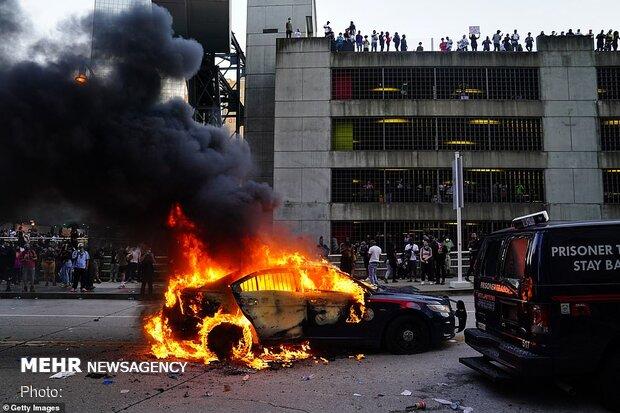 """اعتراضات به قتل سیاهپوست غیر مسلح در """"مینیاپولیس"""" آمریکا"""