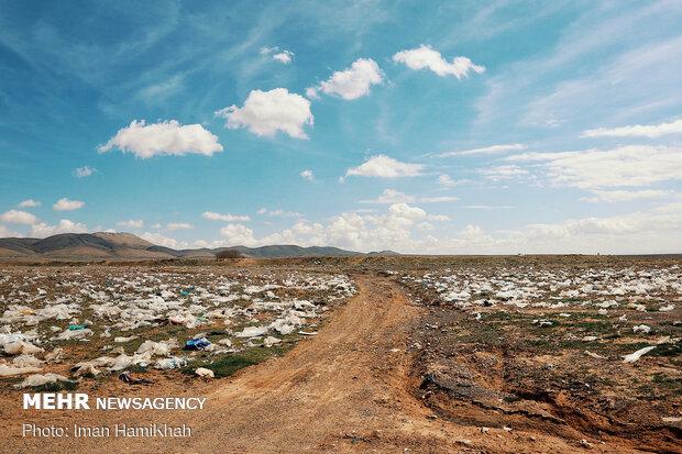 محل دفن و دپو زباله در کبودراهنگ همدان
