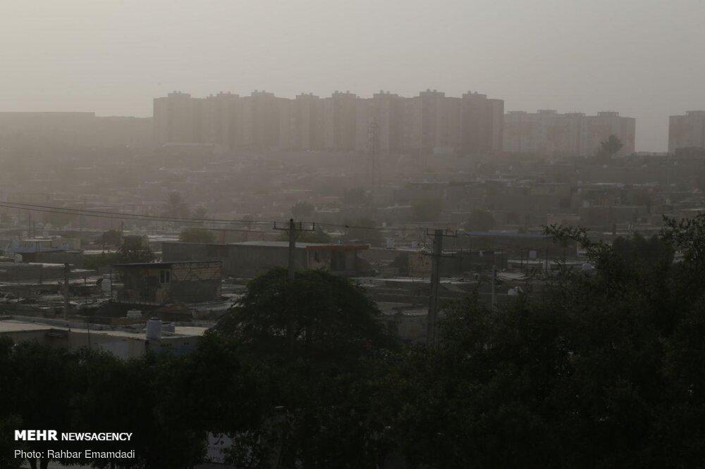 گرد و غبار در بندرعباس