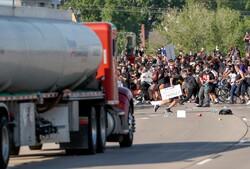 حمله با کامیون به جمعیت معترضان آمریکایی