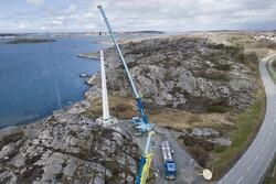 سوئدیها دومین توربین بادی چوبی جهان را ساختند