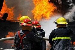 آتش سوزی فروشگاه و انبار لوله و اتصالات در رشت/ حریق مهار شد
