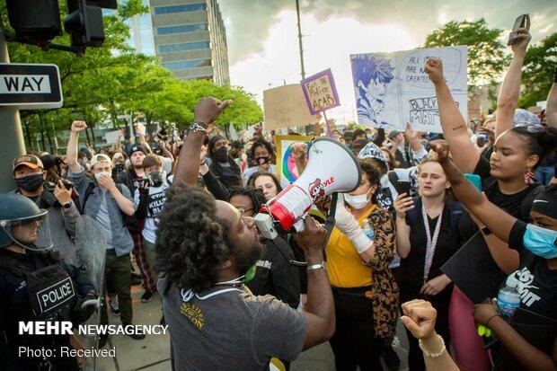 ABD'deki protestolardan fotoğraflar