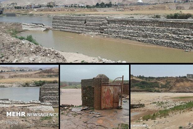 ساکنان بخش غربی«پلدختر» در بیم سیلاب/لزوم امتداد دیواره محافظ شهر