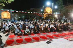 قم میں مدرسہ فیضیہ میں حضرت امام خمینی (رہ) کی یاد میں تقریب منعقد