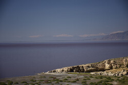 Lake Urmia water level in past two years