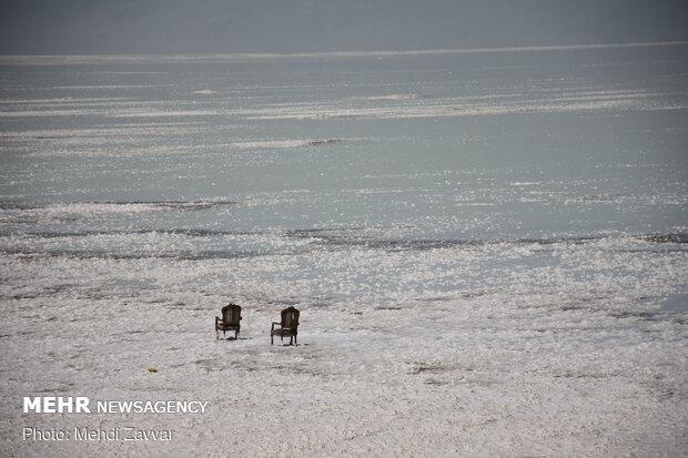Urmiye Gölü'nün son halinden fotoğraflar