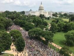 امریکی صدر ٹرمپ کے خلاف عوامی مظاہروں کا سلسلہ جاری