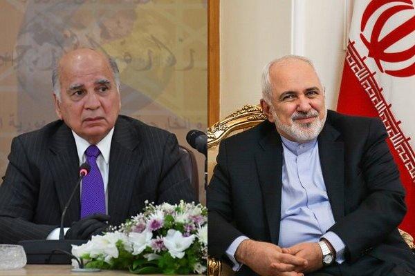 ظريف يشيد بمسيرة التعاون بين طهران وبغداد