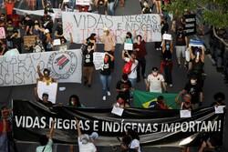 Brezilya'da binlerce kişi ırkçılık ve polis şiddetini protesto etti